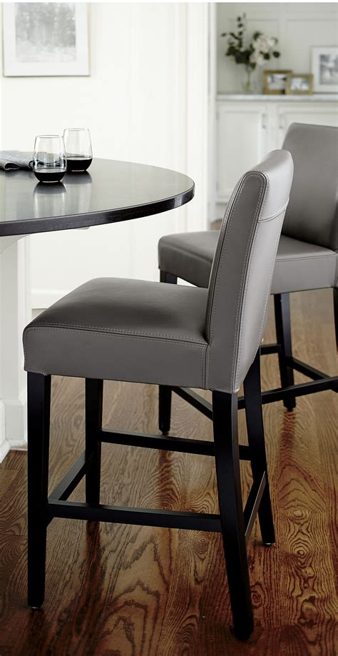 Leather Parson Bar Stools by Classic Parsons Style Design Is Echoed In Our Lowe Leather