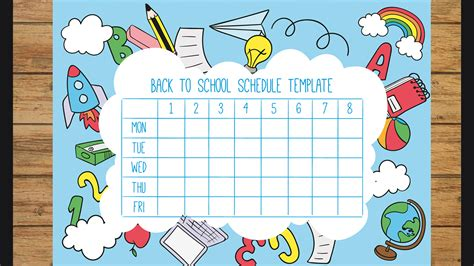 School Templates by Back To School School Timetable Templates Part 2 Active