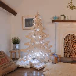 wooden tree with lights alternative wooden 4ft tree by bombus