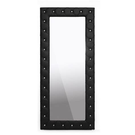 Stella Floor L by Baxton Studio Stella Floor Mirror In Black Bbtm27 Black