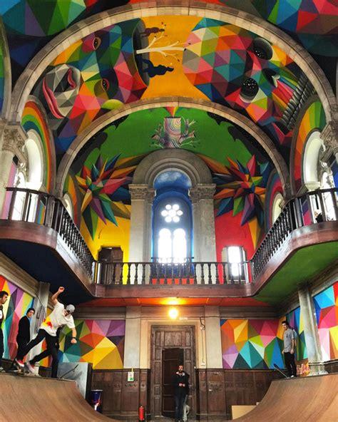 Kaos Colourful Skateboarding sacred skateboarding church becomes kaos temple detail