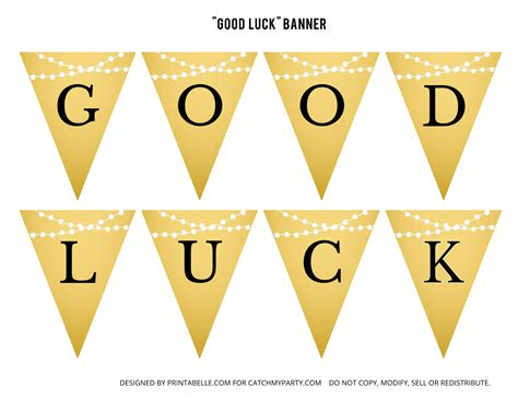 luck banner template free gold graduation printables catch my