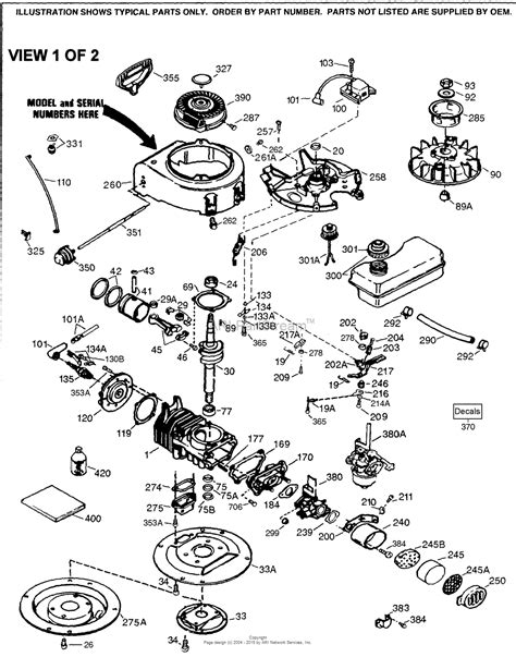 tecumseh av520 670137r parts diagram for engine parts list 1