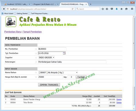 buku panduan membuat website dengan html buku panduan membuat aplikasi penjualan menu makan pada