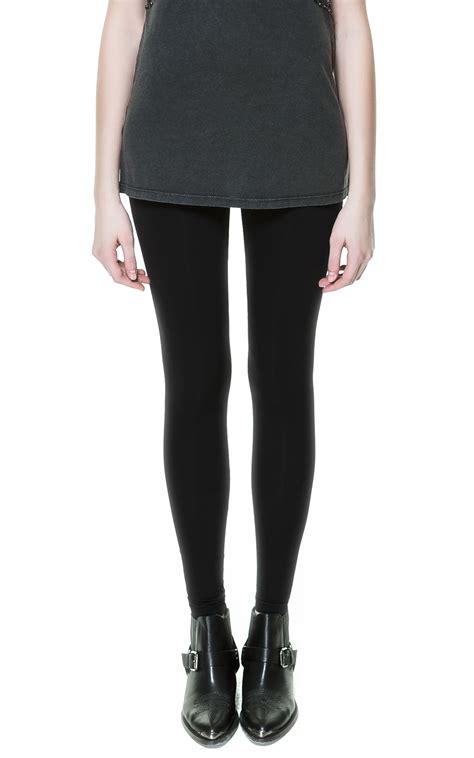 Legging Basic Gap zara basic knitted in black lyst