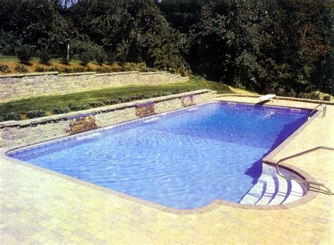 square swimming pool rectangle inground swimming pool