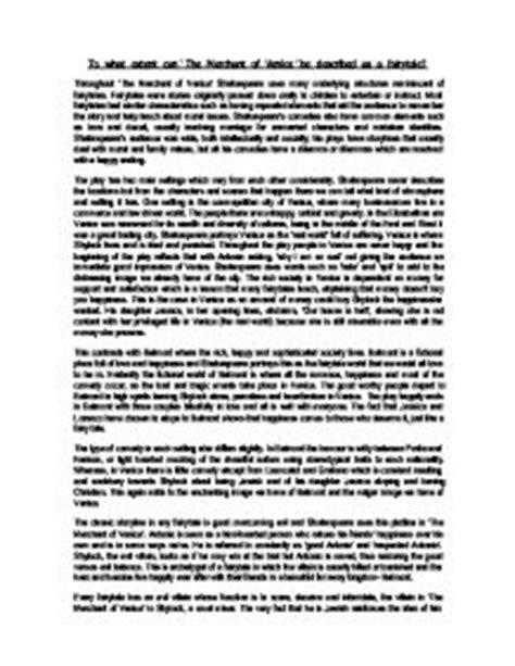 Merchant Of Venice Essay by Merchant Of Venice Essay