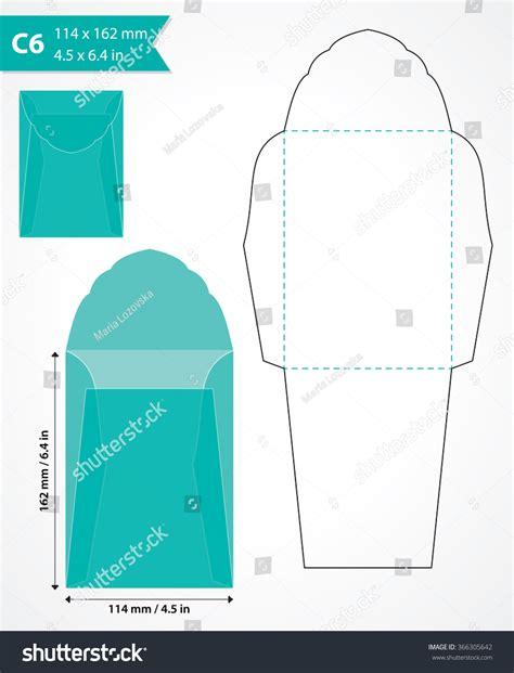 die cut templates die cut envelope template great creating stock vector