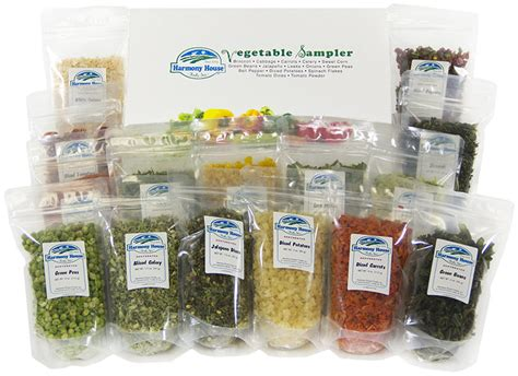 harmony house foods harmony house 15 zip pouches dehydrated vegetable sler food storage
