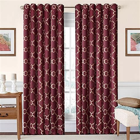 burgundy and white curtains solarshield 174 oasis rod pocket back tab room darkening