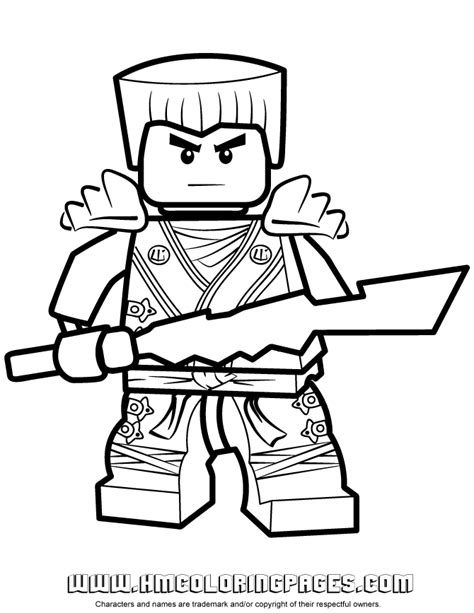Zane Ninjago Coloring Pages ninjago zane kx with elemental blade coloring page h m coloring pages