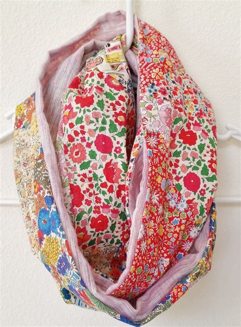 diy patchwork infinity scarf 183 how to make a fabric scarf