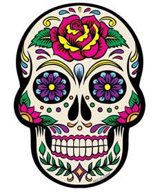colorful sugar skull white sugar skull magnet crafts