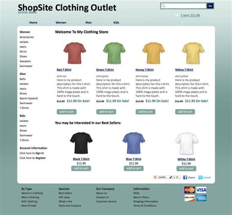shopsite templates shopsite built in smooth template