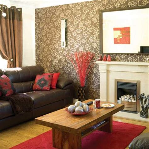 brown and red living room ideas 15 interior decorating ideas adding bright red color to