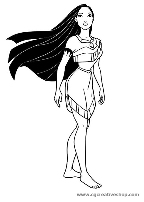 Pocahontas Disney Disegno Da Colorare