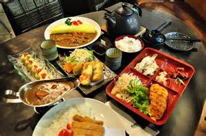 different angle japanese cuisine