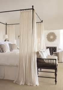 Wood Canopy Bed With Drapes 33 Canopy Beds And Canopy Ideas For Your Bedroom Digsdigs