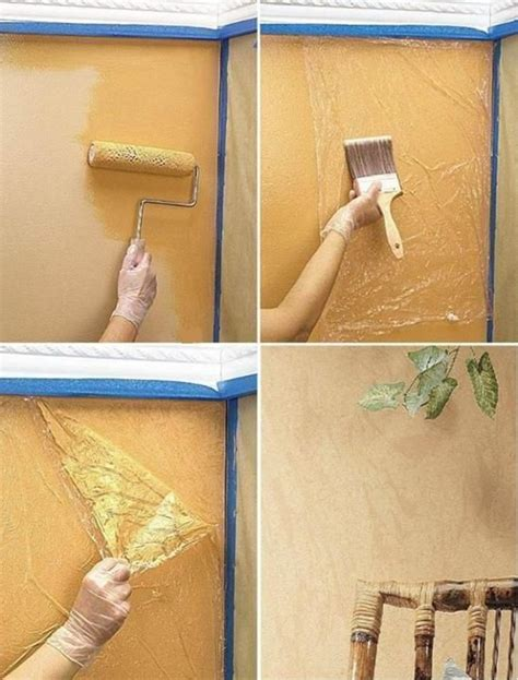 wall paint decor idea using plastic wrap http justimagine ddoc crafts crafty finds for