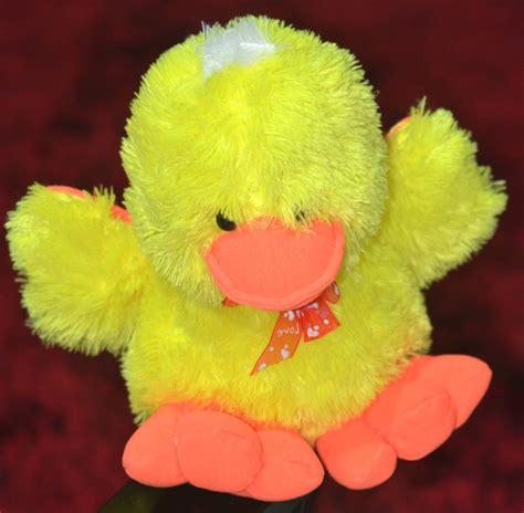 Boneka Beruang Kuning Baju Biru 25 Cm boneka