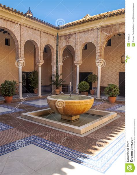 cortile spagnolo andalusian courtyard royalty free stock images image