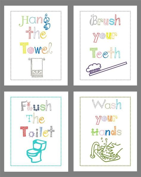 bathroom rules for kids 25 best ideas about kids bathroom sets on pinterest