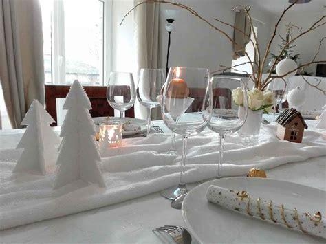 deco table noel blanc agrandir une table de nol en noir