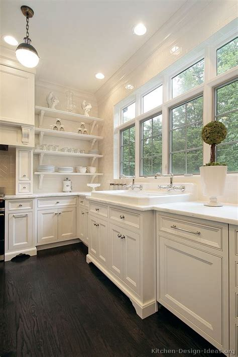 kitchens with white cabinets and dark floors pictures of kitchens traditional white kitchen