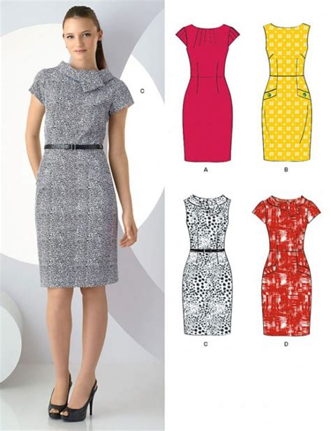 new look misses pencil dress by simplicity patterns