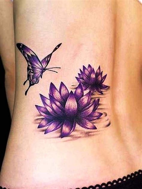 pink flower tattoo designs lotus flower tattoos on lower back side designs