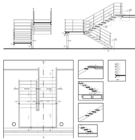 disegni di scale interne scale 2d in metallo