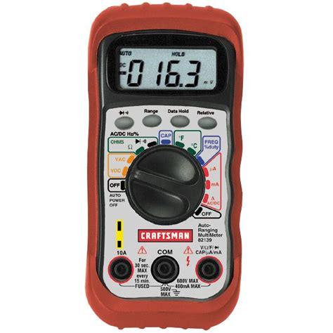 Multimeter Manual craftsman multimeter tools electricians tools multi meters meters