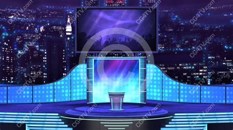 virtual stage background wide angle