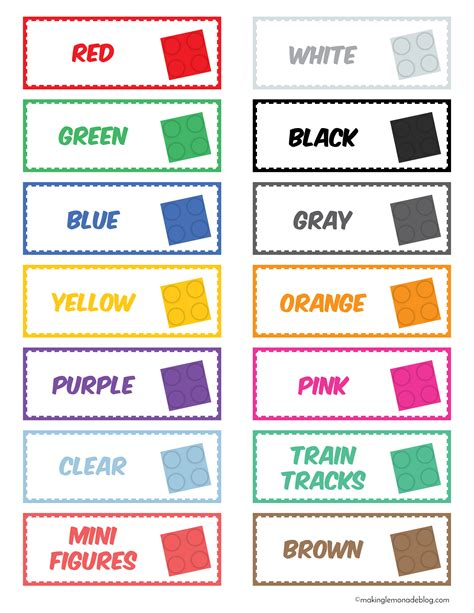 colored labels the magical lego organizing solution free printable