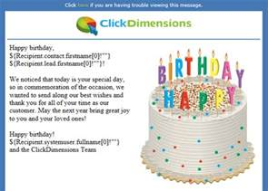 creating automated and personalized birthday emails clickdimensions