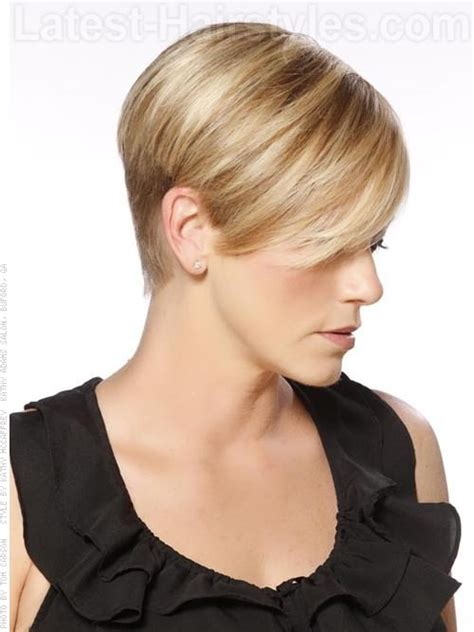 hair cut shorter on sides than back women hairstyles short on one side really cute short