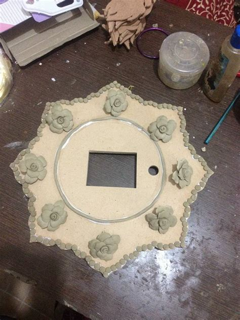 How To Make Paper Mache Wall - how to make wall clock with paper mache roses simple