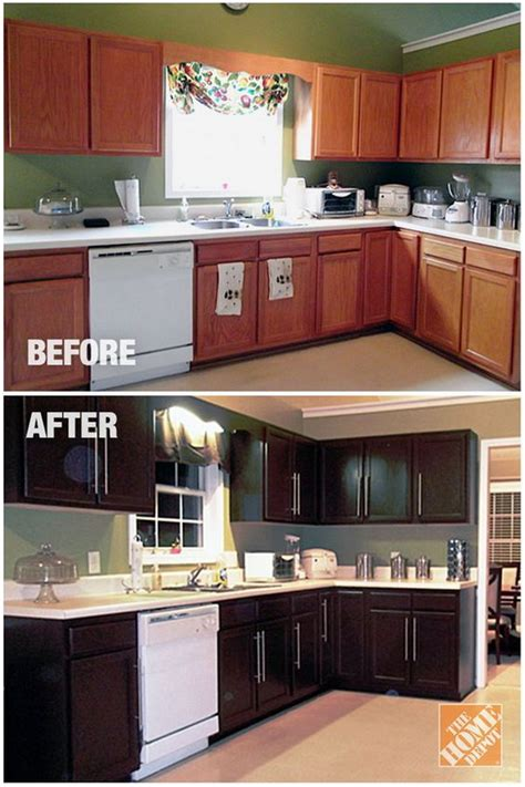 home depot enhance kitchen cabinets for pretty before and after kitchen makeovers noted list