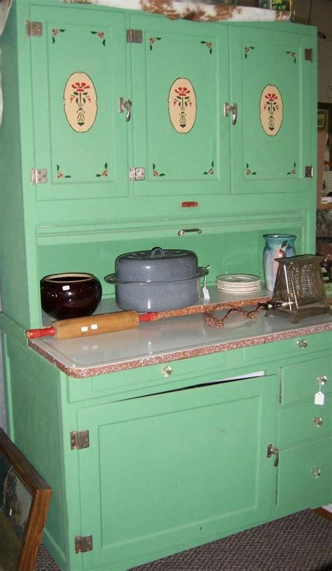 Vintage Kitchen Cabinets by Green With Stencils Vintage Kitchen Hoosier Cabinet Made