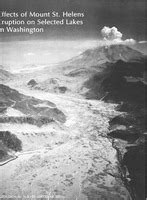 Effects of Mount St. Helens eruption on selected lakes in