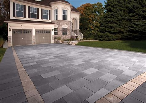 unilock richcliff driveway in belpasso unilock pavers with richcliff accents