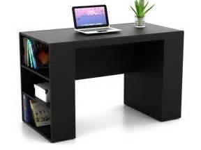 bureau tely ii avec rangements 6 niches coloris noir