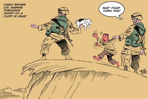 marine throws puppy the bravery of u s marines by latuff2 on deviantart
