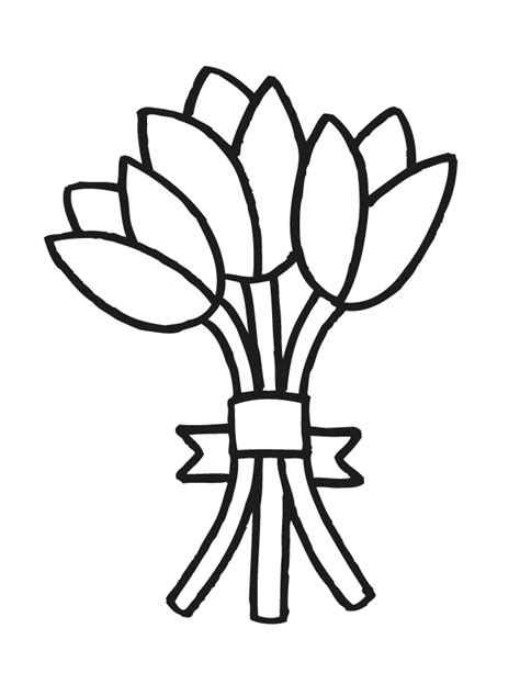 clipart of flowers coloring pages bouquet of flowers drawing clipart best