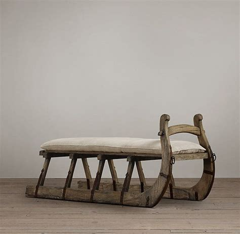 sleigh bench antique hungarian sleigh bench for the home pinterest