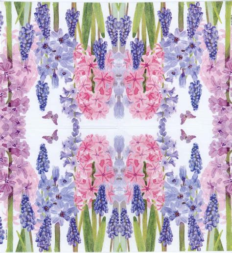 purple decoupage paper decoupage paper napkin of blue and purple hyacinth flowers