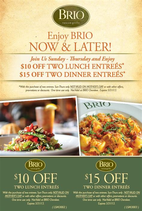 brio calories 17 best ideas about brio tuscan grille menu on pinterest