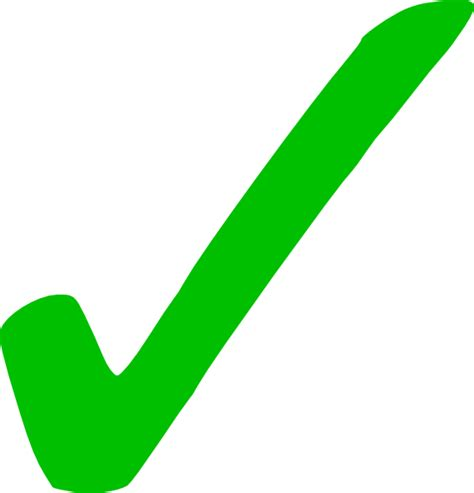 No Background Check Transparent Green Checkmark Clip At Clker Vector