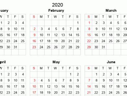 printable full year calendars