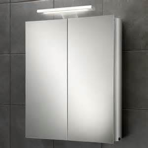 Mirrored Bathroom Cabinets With Lights Hib Atomic Door Aluminium Cabinet With Led Overlight Shaver Socket 42700 Cabinets